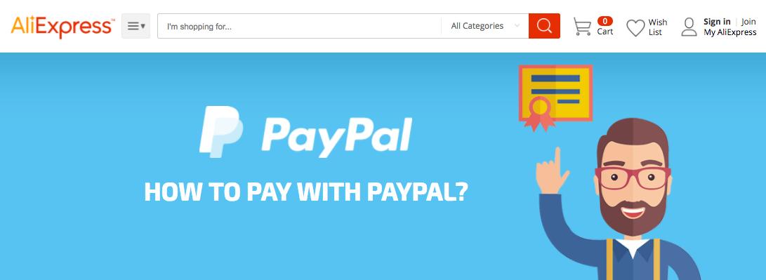 Ondersteunt AliExpress PayPal?